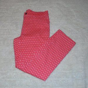 Work Leggings w/ Pink and White Pattern